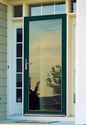 Larsen door decorating larson storm door retractable for Replacement storm windows